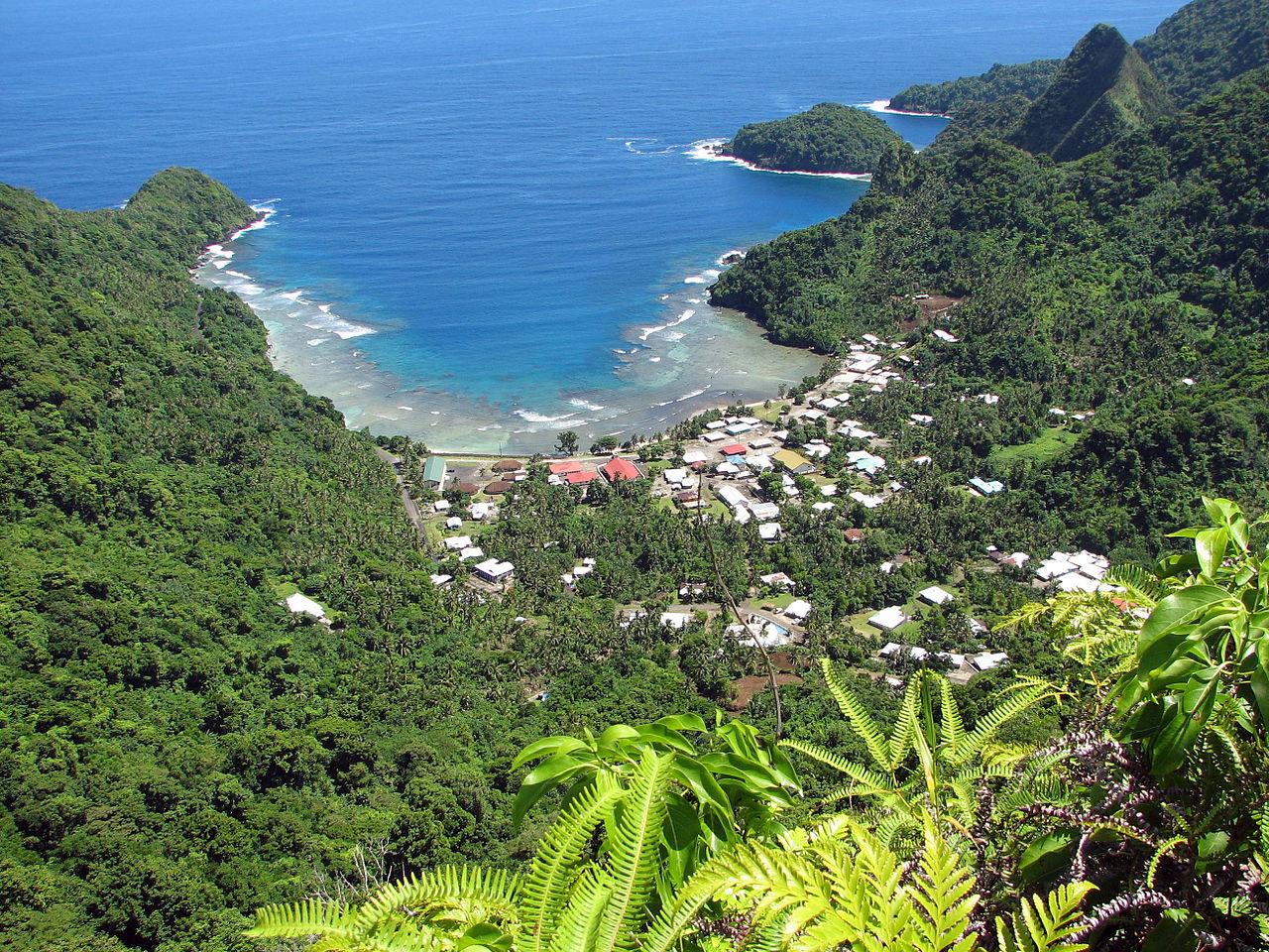 Afono village, Tutuila island, American Samoa