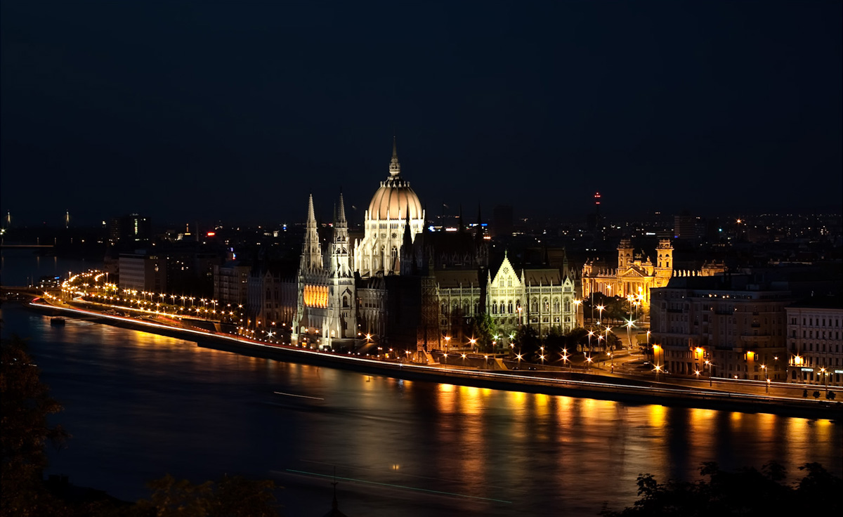 Budapest at Night, Hungary - by Pedro Szekely