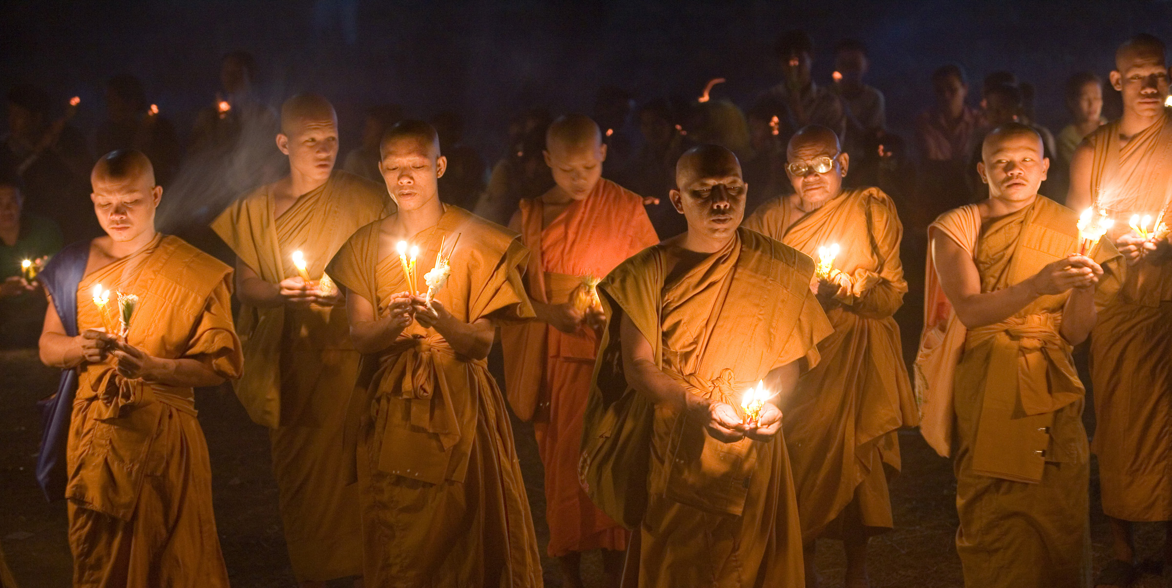 Buddhist monks in Laos - by Wilf Noodermeer on behalf of OMF International