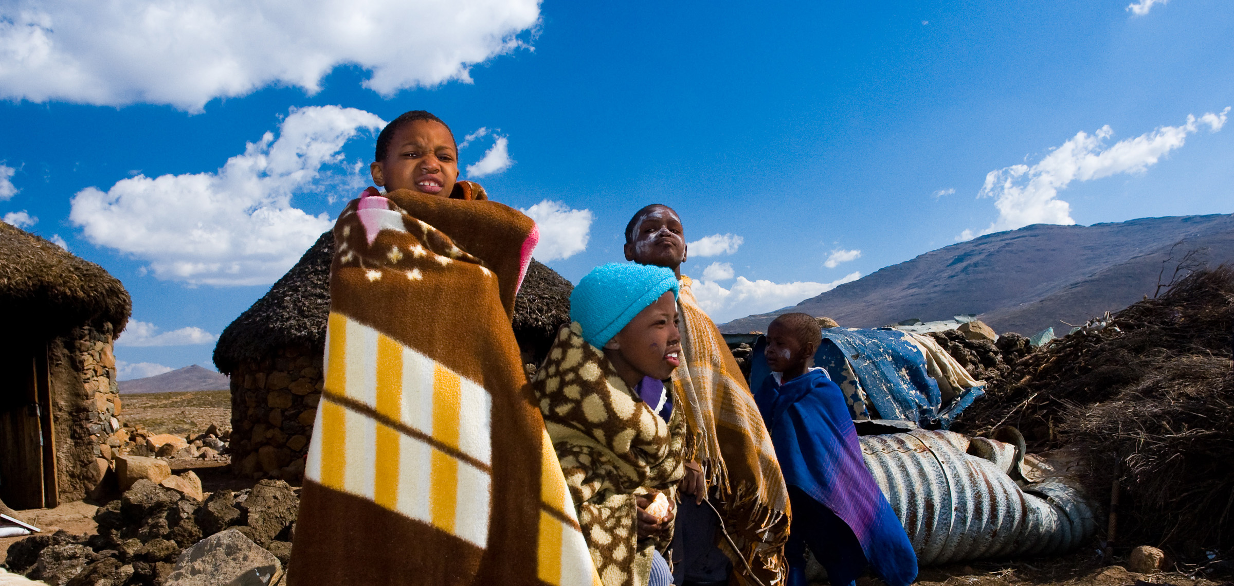 Children playing in Lesotho - by Jan Slangen