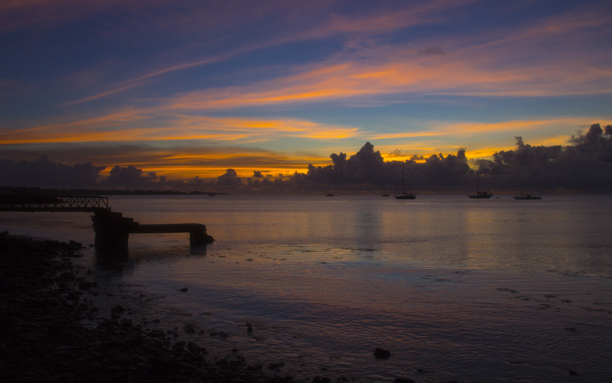Funafuti sunset, Tuvalu - by Nick Hobgood