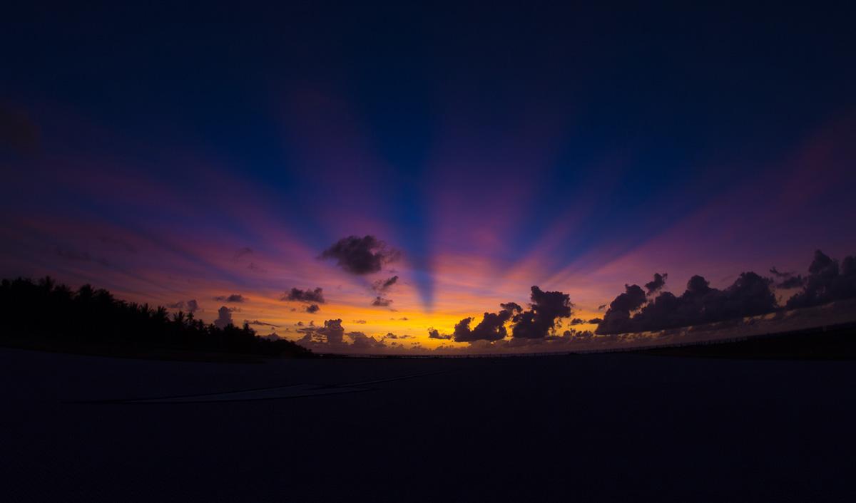 Nauru sunrise - by Nick Hobgood