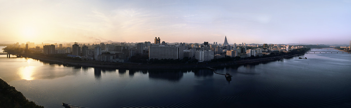 Panorama of Pyongyang, North Korea - by Fraser Lewry