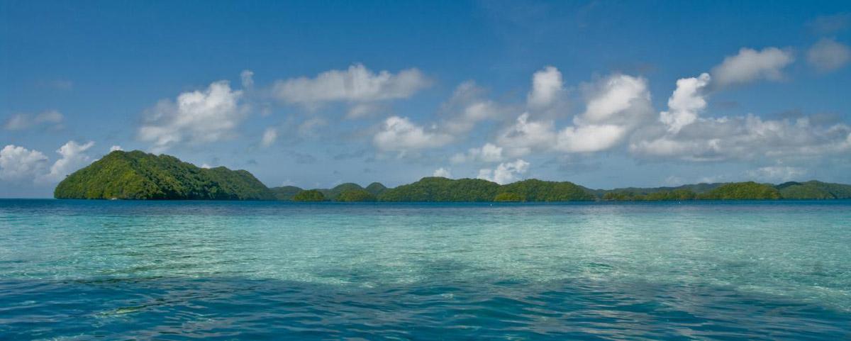 Rock islands in Palau - by Mark Kenworthy