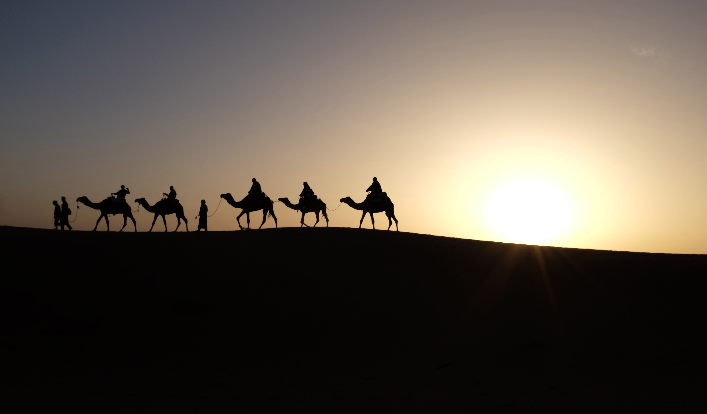 Sahara Desert near Merzouga, Morocco by Inbal Malca