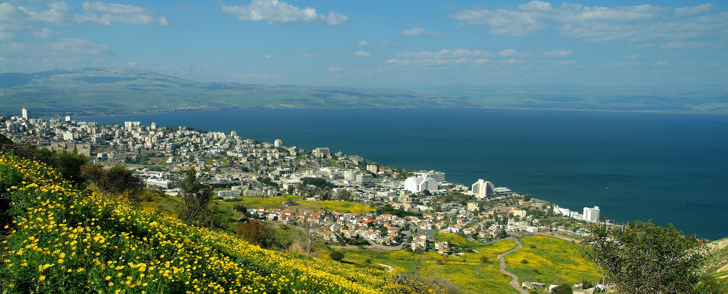 The Sea of Galilee and Tiberias in Israel - by Almog