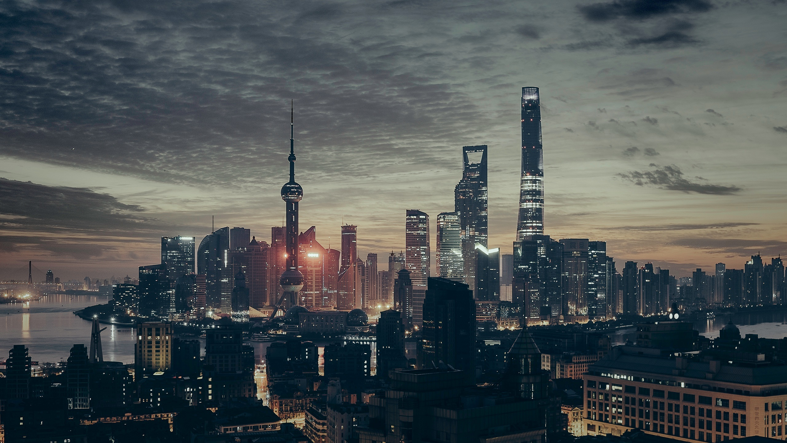 Shanghai, China, at night - Unsplash