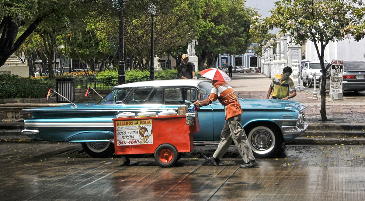 Sunday morning in Ponce, Puerto Rico - by Bob Jagendorf