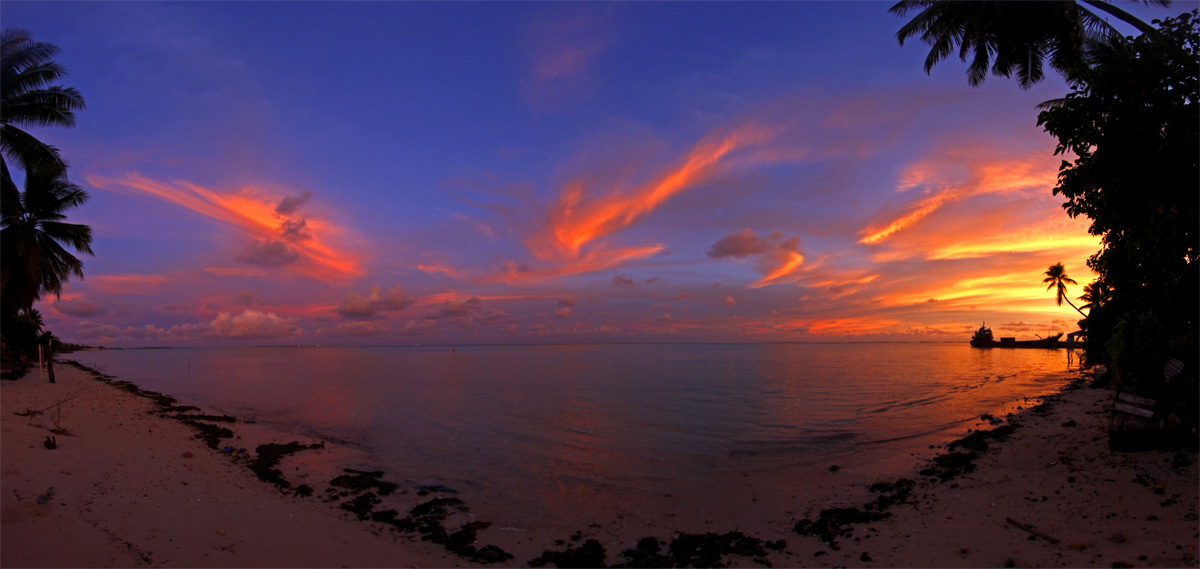 Sunrise in Kiribati - by Nick Hobgood