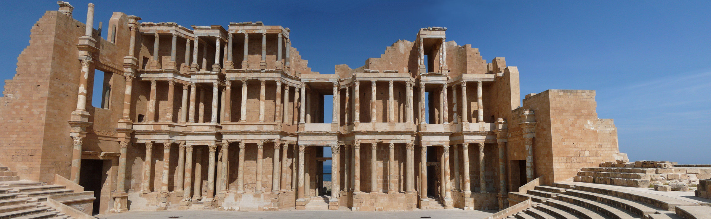 Theatre at Sabratha, Libya - by weesquirt