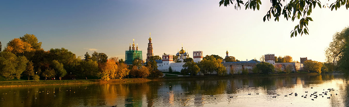 View across the river in Moscow, Russia - by Quynh Anh Photography