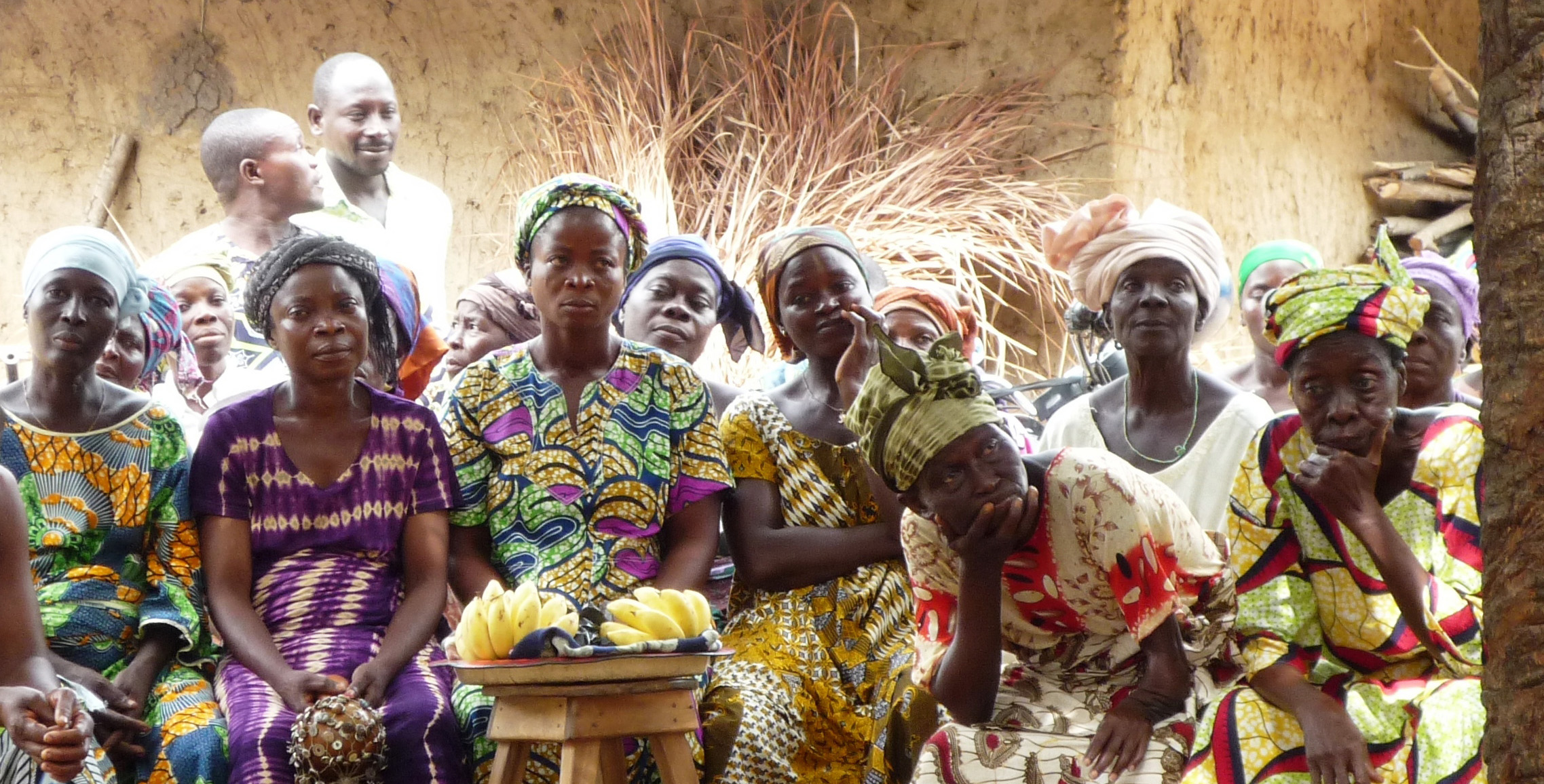 Women during a training session in Benin - by Rémi Kahane