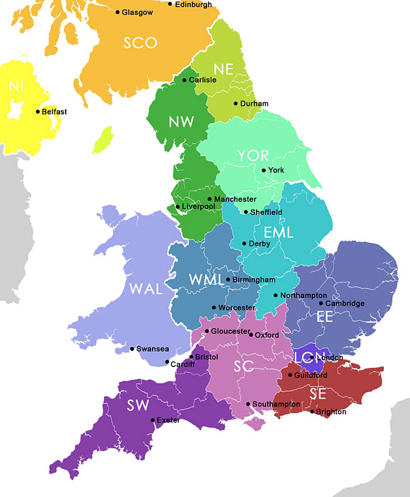 Regions of the UK