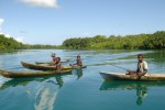 Boys on a fishing trip in the Solomon Islands - by Kerrie Kennedy