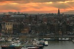 Sunset over Amsterdam, Netherlands - by Llama Zotti