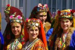 Women in traditional dress in Pirin, Bulgaria - by Donald Judge