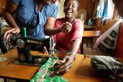 The sewing workshops gives girls skills to run a business