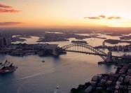 Aerial sunset of Sydney - by Seb Ruiz