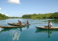 Boys on a fishing trip in the Solomon Islands - by Kerrie Kennedy