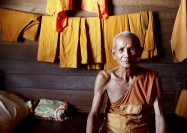 Buddhist monk in a Thai monastery - by Roddy MacKay, OMF International
