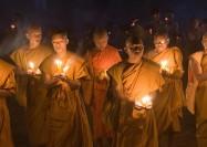 Buddhist monks in Laos - by Wilf Noodermeer