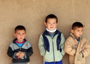 Children in the Karakum Desert, Turkmenistan - by Fraser Lewry