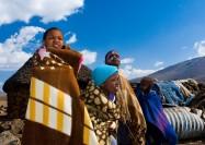 Children playing in Lesotho - by Jan Slangen