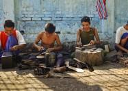 Craftsmen at work in Myanmar - by Andrew Philip, OMF International