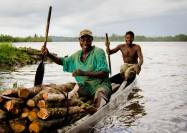 Crossing the river in Cestos, Liberia - by Cameron Zohoori
