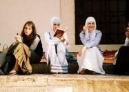 Girls chatting in Sarajevo, Bosnia - by Kashfi Halford