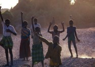Kids playing in Somalia - by Frank Keillor
