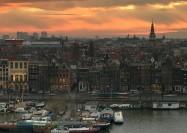 Sunset over Amsterdam, Netherlands - by Llama Zotti