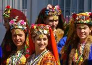 Women in traditional dress in Pirin, Bulgaria - by Donald Judge