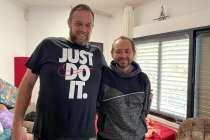 Israeli missionaries, like Igal, continue to reach out to those like Aryeh (right)