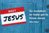 """Book cover illustration for """"Meet Jesus"""" bible reading plan."""