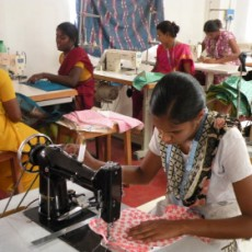 Young women at the Mahalir Aran Trust