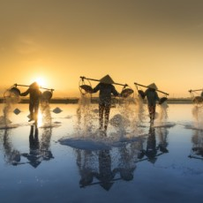 Hon Khoi salt fields in Vietnam - Photo by Quangpraha