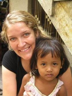 Amy in Cambodia