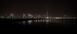 Dubai Bay at night, United Arab Emirates - by Walid Mahfoudh