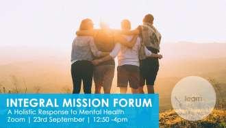 Integral Mission Forum - Mental Health banner