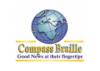Compass Braille logo