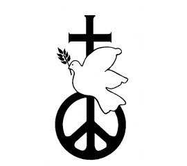 Christian CND logo - peace, cross and dove