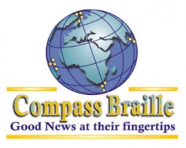 Compass Braille logo