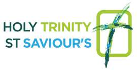 Holy Trinity & St Saviour's logo dark green cross on green rectangle