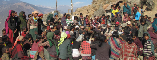 INF's work in Nepal - Community meeting