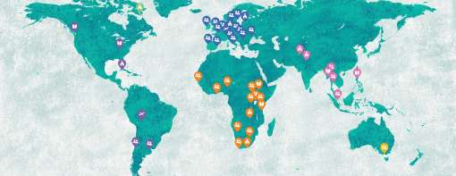 Map of Crosslinks people and projects
